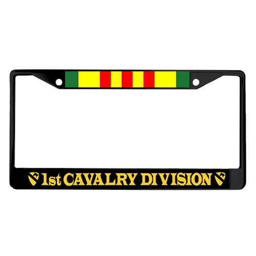 1st cavalry division vietnam ribbon powder coated license plate frame