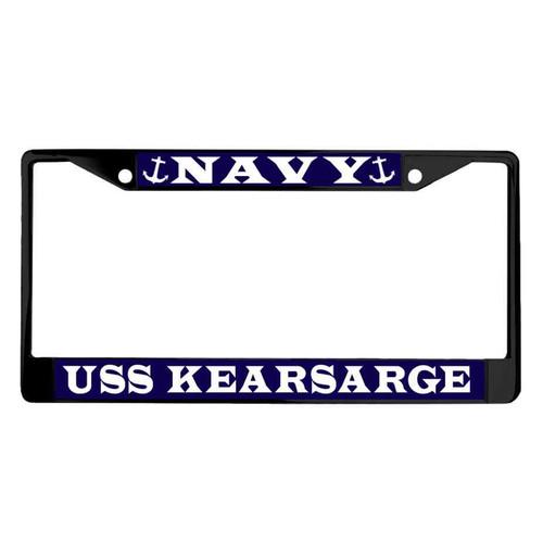 uss kearsarge powder coated license plate frame