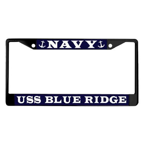 uss blue ridge powder coated license plate frame