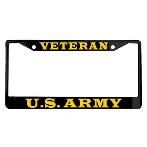 u s army veteran powder coated license plate frame