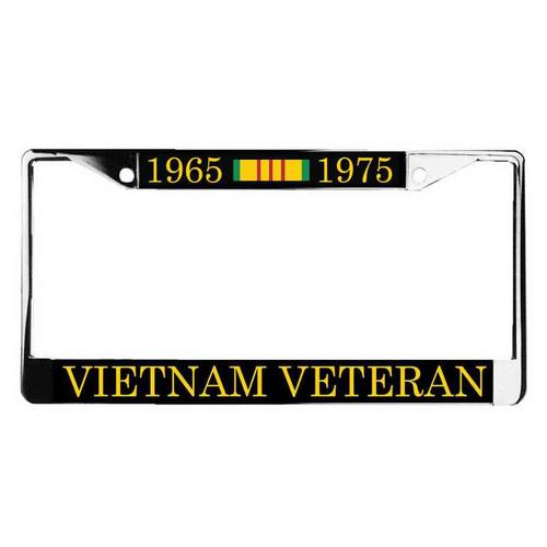 vietnam veteran ribbon license plate frame