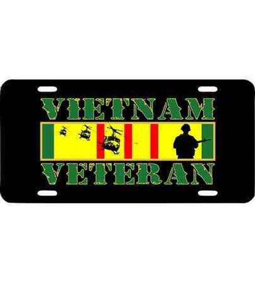 vietnam veteran soldier ribbon license plate