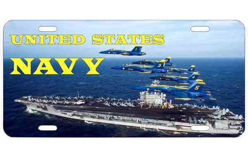 navy carrier blue angels photo license plate