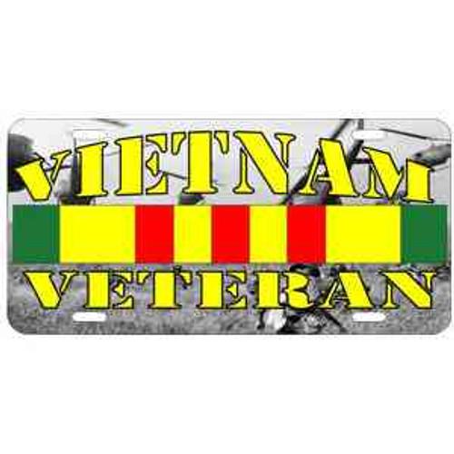 vietnam veteran background photo license plate