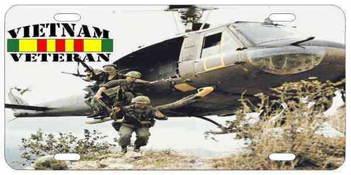 vietnam veteran huey photo license plate