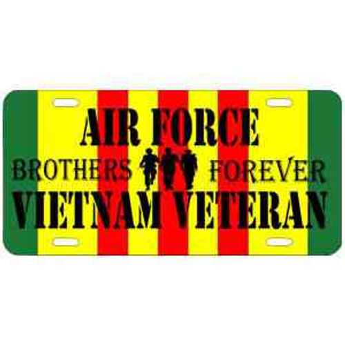 air force vietnam veteran brothers forever license plate
