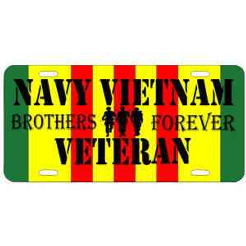 navy vietnam veteran brothers forever license plate