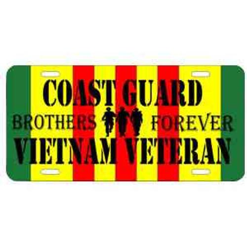 uscg vietnam veteran brothers forever license plate