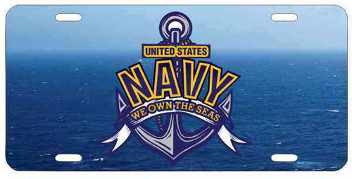 united states navy we own seas license plate