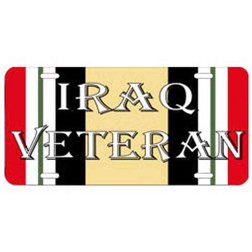 iraq veteran campaign ribbon license plate