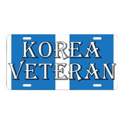 korea veteran campaign ribbon license plate