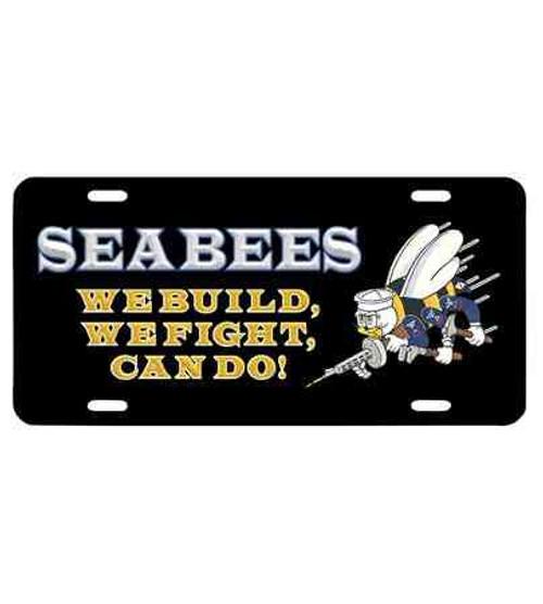 navy seabees slogan license plate