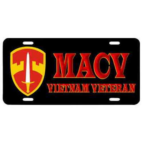 macv vietnam veteran license plate