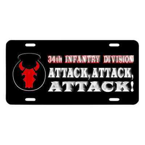 army 34th infantry division motto license plate