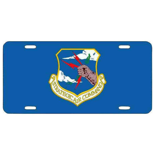 air force strategic air command blue license plate