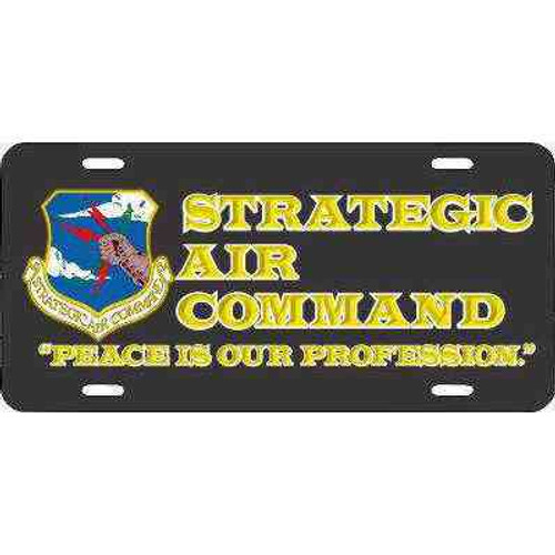 air force strategic air command motto in black and yellow