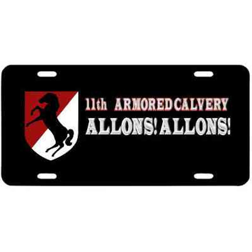 army 11th armored cavalry motto license plate