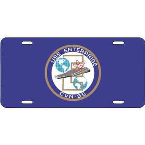 navy uss enterprise license plate