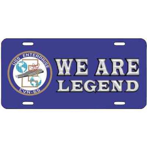 navy uss enterprise motto license plate
