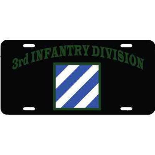 army 3rd infantry license plate