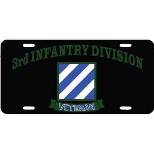 army 3rd infantry veteran license plate