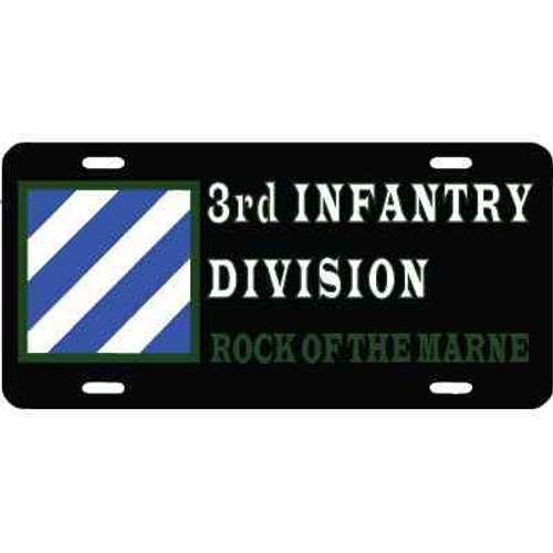 army 3rd infantry rock marne license plate