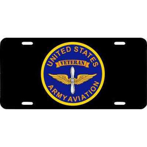 u s army aviation veteran license plate