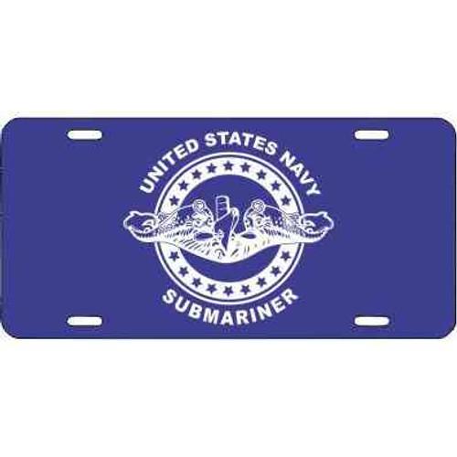 navy submarine badge license plate