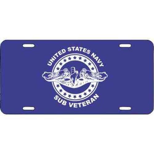 navy submarine badge veteran license plate