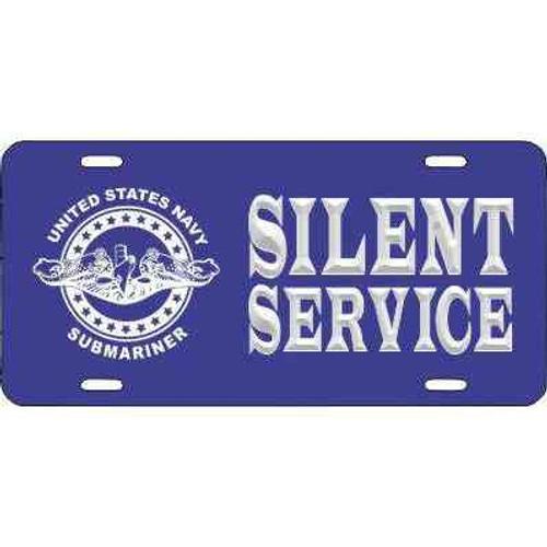navy submarine badge silent service license plate