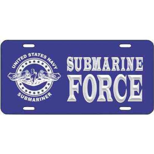 navy submarine badge submarine force license plate