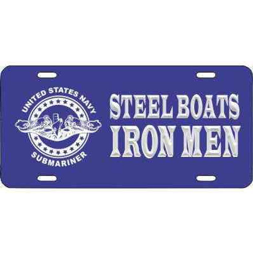 navy submarine badge steel boats iron men license plate
