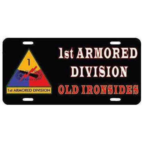 1st armored division old ironsides license plate