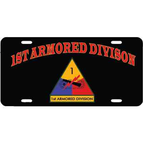 1st armored division license plate