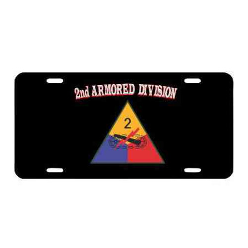 army 2nd armored division license plate