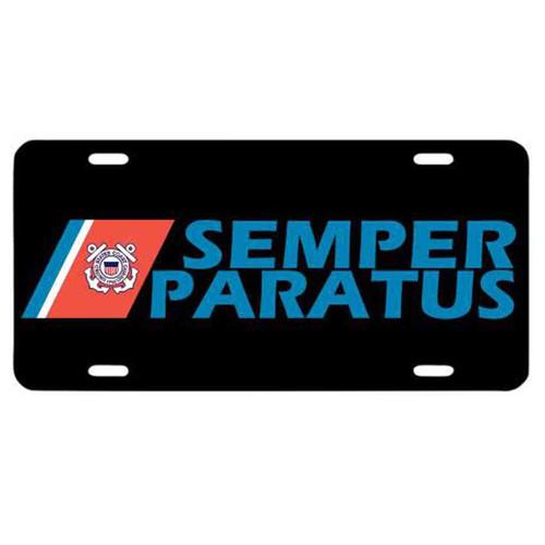 coast guard semper paratus decorative license plate