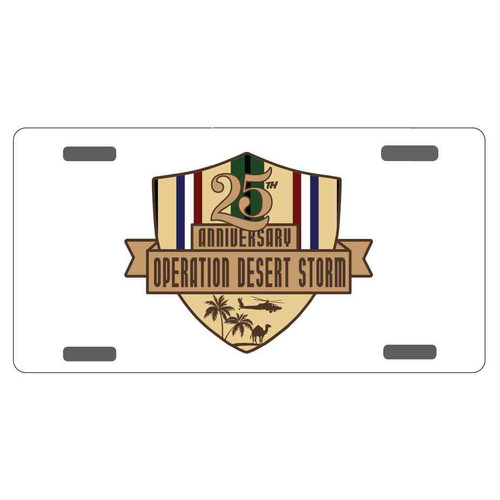 desert storm 25th anniversary license plate