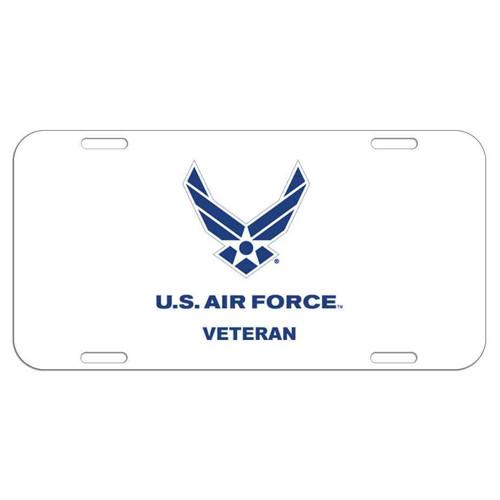 air force veteran license plate