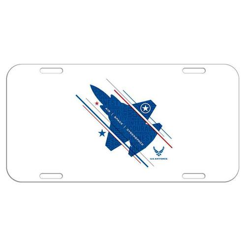 usaf jet and stars license plate