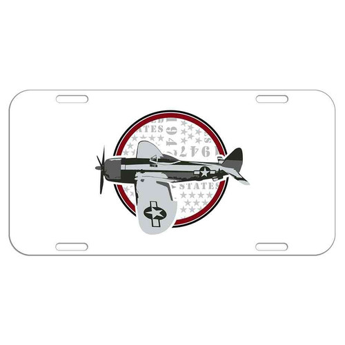 usaf vintage license plate