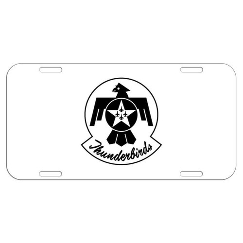 officially licensed u s air force thunderbirds black and white logo license plate