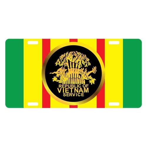 vietnam service medal license plate