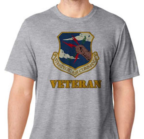 air force strategic air command veteran performance grey tshirt