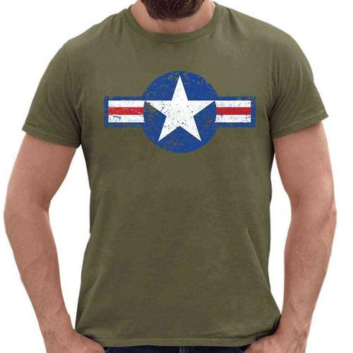 vintage air force o d shirt