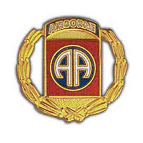 army 82nd airborne wreathe pin
