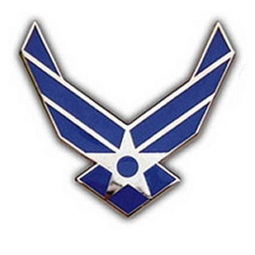 us air force logo hat lapel pin
