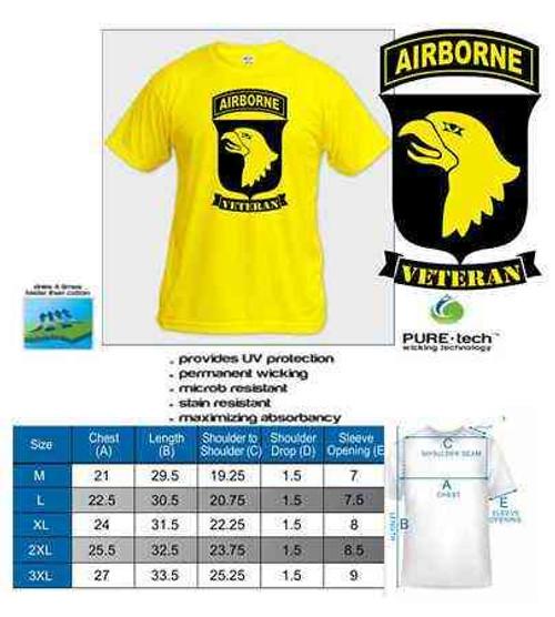 gold 101st airborne veteran tshirt