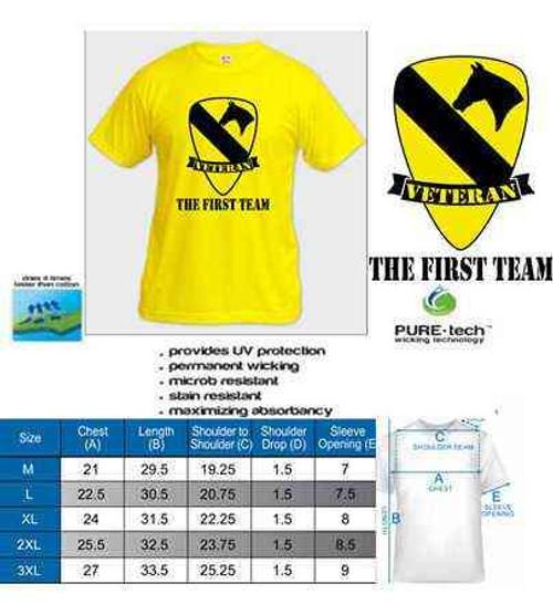 army 1st cavalry division veteran tshirt
