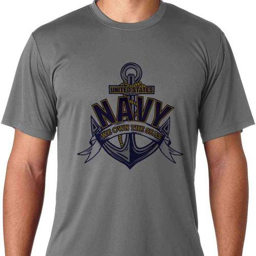 navy we own seas solar performance ss tshirt