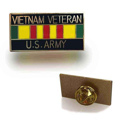 us army vietnam veteran service ribbon hat lapel pin
